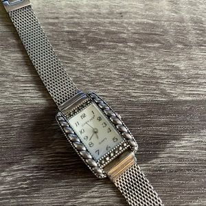 Judith Jack Sterling Silver Marcasite Mesh Watch